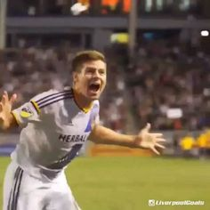 #Gerrard scored on his MLS debut with the LA Galaxy What a legend. Credit- @liverpoolgoals (if you also want to watch yesterday's goals from our friendly win over Bisbane Roar then go follow @liverpoolgoals and watch them there!) #YNWA #Legend • @stevengerrard