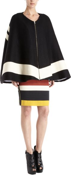 Boy. by Band of Outsiders Two-Tone Blanket Cape