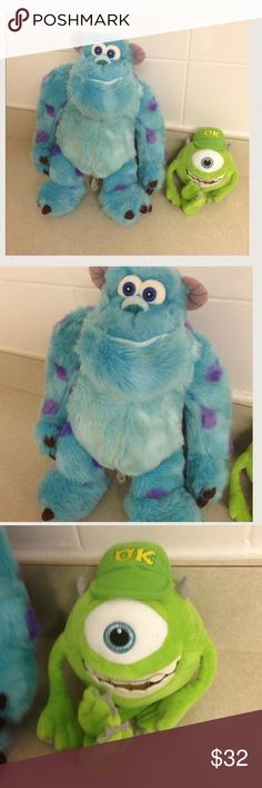 X2 Monsters Inc Mike and Sully PLUSH BUNDLE 2 plush bundle both in great condition, purchased at Disney Store Orlando, 2 fun plush toys for one low price! Disney Store Other