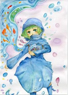 ISIS chan with goldfishes by kaituburi.deviantart.com on @DeviantArt