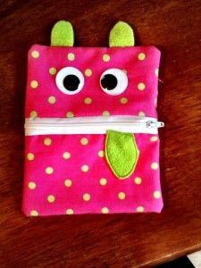 Oh Sew cute, pink monster change purse
