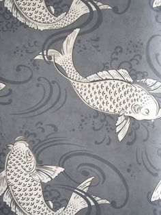 Blue Grey Wallpaper, Osborne And Little Wallpaper, Bold Wallpaper, Print Wallpaper, Animal Wallpaper, Beautiful Wallpaper, Bathroom Wallpaper Uk, John Lewis, Art Deco Bathroom