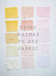 using flowers, spices, veggies, etc to dye fabric