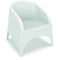 Butaca apilable de resina reforzada con fibra de vidrio. Sin estructura metálica. Protección rayos UV. Para uso in-terior y exterior