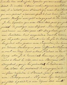 Vintage Ephemera: French Script, 1816