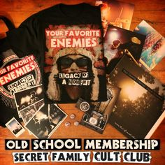 Your Favorite Enemies - Secret Family Cult Club subscription The Fosters, Old School, Your Favorite, In This Moment, Club, Enemies