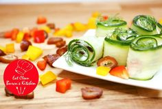 Gurken-Frischkäse-Röllchen - Rezept von Eat Clean - Burcu´s Kitchen Fitness Snacks, Clean Eating, Cleaning, Kitchen, Cucumber Recipes, Health Snacks, Easy Meals, Health, Eten