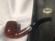 S. Bang Pipe with Sterling Silver Band- Stamped 9 M- Made in Denmark- Unsmoked