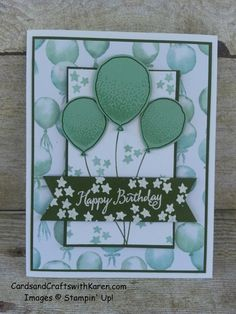 Minty Balloon Celebration by googoobaby - Cards and Paper Crafts at…