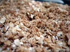 simple brown sugar Granola - no nuts - I drizzled honey before I put it in the oven and then after I flipped it. I used the olive oil and less brown sugar. Good granola base. Add anything. It isn't a clumpy granola.