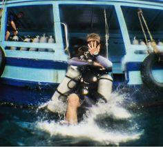 Good morning guys time to get wet @lcrsmith  #crystaldive #kohtao #thailand #scuba #diving #scubadiving #padi #letsgodiving #scubalife #islandlife #office #work #divemaster #livethedream #lifestyle #cool #Awesome #goodmorning #morning #splash #jump #airtime #divingisalifestyle