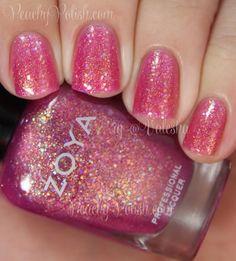 Zoya Binx | Summer 2014 Bubbly Collection | Peachy Polish - like sparkly bubble gum!
