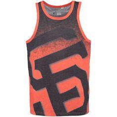 818f2e0fdca05 San Francisco Giants Big Logo Tank Top - Black Orange Baseball Fashion