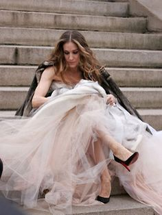 Sarah Jessica Parket covered in tulle. Swoon