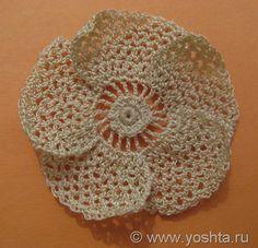 tutorial - irish crochet flower