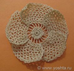 Tutorial - irish crochet flower.  Instrucciones y fotos.