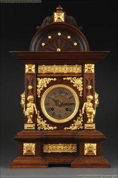 reloj de sobremesa antiguo, relojes antiguos,                              …
