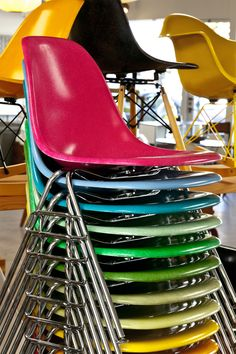 Modernica Case Study Fiberglass Shell Chairs on Stacking base