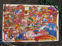 1984 Worlds Fair, New Orleans Map