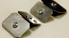 Cufflinks set with 0.28 ct Diamond in 18 ct Yellow Gold and Platinum - Vintage Circa 1940