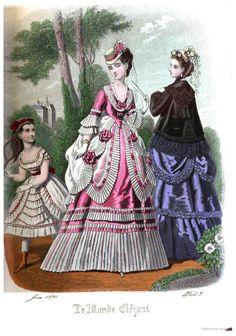 Le Monde Elégant 1870 June