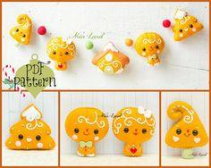 PDF Pattern. Chistmas gingerbread garland.