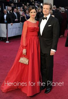 Exclusive post-Oscars interview with Livia Firth for Heroines for the Planet: http://eco-chick.com/2012/02/9993/heroines-for-the-planet-livia-firth/ planet, plastic bottles, recycled bottles, livia firth, colin firth, red carpets, oscar dresses, lobster, challeng