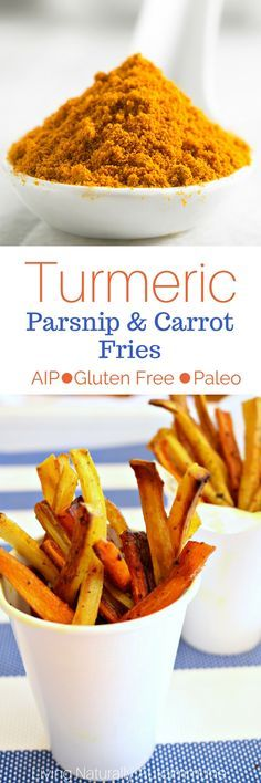 Crispy Turmeric Parsnip and Carrot Fries (Gluten Free, AIP, Soy Free, Nut Free, Dairy Free) - Living Naturally Autoimmune