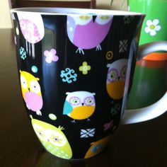 Owl coffee mug have these in black and pink! Love them!!!
