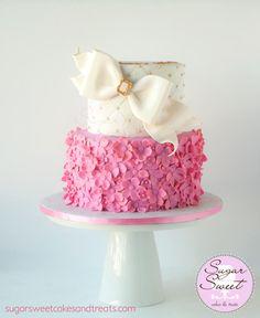 Pink and Gold Ruffled Cake by Angela SugarSweetCakes&Treats