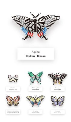 Butterfly Species Created with Typography Unique Butterfly Species Created with Typography - My Modern Metropolis.Unique Butterfly Species Created with Typography - My Modern Metropolis. Typographic Design, Typography Fonts, Graphic Design Typography, Hand Lettering, Book Design, Design Art, Cover Design, Layout Design, Inspiration Typographie