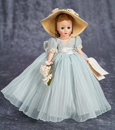"10"" Cissette as Beautiful Bridesmaid with Hat, 741, by Madame Alexander 300/500"