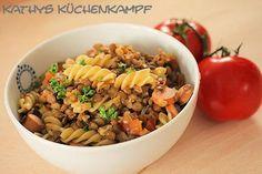 Linsensuppe mit Pasta - http://kathys-kuechenkampf.de/linsensuppe-mit-pasta/
