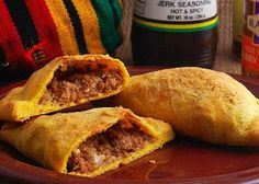 Jamaican Meat Patties recipe: Spicy beef wrapped in tender, flakey crust. Just like in Kingston town. Meat Patty Recipe, Pate Recipes, Patties Recipe, Beef Recipes, Cooking Recipes, Yummy Recipes, Dinner Recipes, Jamaican Beef Patties, Street Food