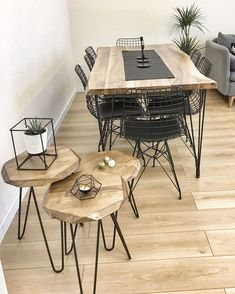 Dining Room, Dining table, Metal chair, Chair, Wooden M … – Table Ideas Decoration Hall, Decoration Photo, Decoration Christmas, Decoration Bedroom, Decoration Inspiration, Decoration Design, Dining Room, Dining Table, Living Comedor