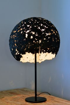 Handmade recycled paper lampshade Egg  011 by 7LAMPI on Etsy, €125.00
