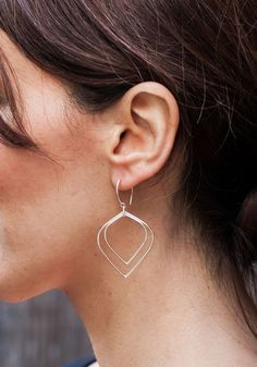"""Divine Lotus Earrings (1.5"""" length) from Méli Jewelry for $50.00 – $710.00 Renegade Craft Fair, Wing Earrings, Cherub, Craft Fairs, Wings, Trending Outfits, Unique Jewelry, Handmade Gifts, Crafts"""