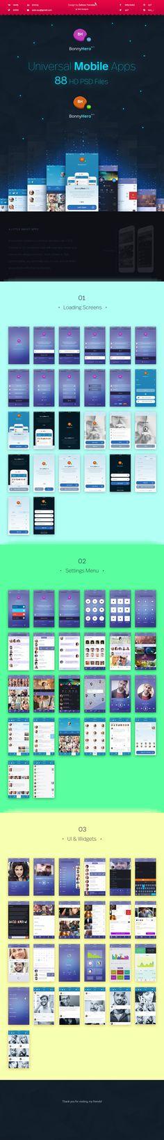 Bonny Hero App   Phone   Mobile UI ver. 2.0 on Behance