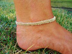 Hemp Ankle Bracelet by PEACEdTogether1 on Etsy, $10.00
