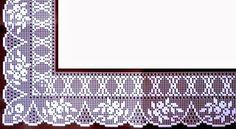 Filet Crochet, Crochet Borders, Crochet Stitches Patterns, Irish Crochet, Stitch Patterns, Crochet Dollies, Crochet Lace, Chocolate Decorations, Filets