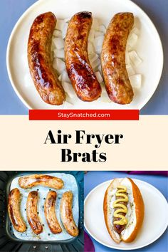 These Easy Air Fryer Brats can be made from fresh or frozen and have that amazing grilled flavor. You will love these because they cook very quickly! I like to add onions and beer for a little flavor, but feel free to use your own favorite flavors and pairing. Easy Healthy Recipes, Quick Easy Meals, Air Fry Recipes, Air Fryer Healthy, Onions, Meal Planning, Meal Prep, Sausage, Fries