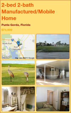 2-bed 2-bath Manufactured/Mobile Home in Punta Gorda, Florida ►$74,900 #PropertyForSale #RealEstate #Florida http://florida-magic.com/properties/4746-manufactured-mobile-home-for-sale-in-punta-gorda-florida-with-2-bedroom-2-bathroom