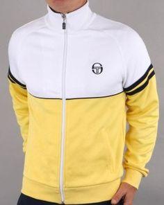 detailed look 83745 2e439 Sergio Tacchini Orion Track Top Yellow White