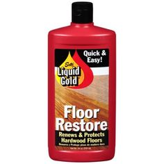 New from Scott's Liquid Gold - Floor Restore! Restores the color and natural beauty of hardwood floors. Renews, protects and leaves a rich long-lasting durable shine! Hardwood Floors Restore, Laminate Flooring, Liquid Gold, Gold Wood, Cleaning Supplies, Helpful Hints, Im Not Perfect, Restoration, At Least