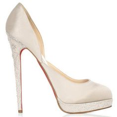 Christian Louboutin shoes white diamond