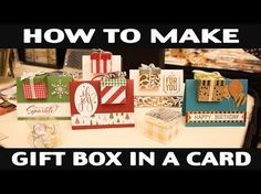 Gift Card Box Today we will be making this Christmas Gift Card Box . This box even holds some treats if you like . Year of Cheer designer paper cut at x Fancy Fold Cards, Folded Cards, Pop Up Cards, Christmas Cards, Christmas 2016, Hannelore Drews, Corporate Gift Baskets, Gift Card Boxes, Christmas Baskets
