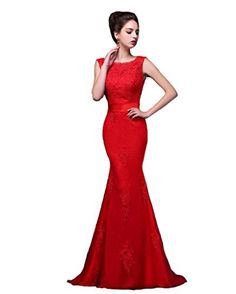 Vimans Women's Long Red Scoop Lace Mermaid Prom Party Gowns with Detachable Train, http://www.amazon.com/dp/B019TXDH3U/ref=cm_sw_r_pi_n_awdm_EZqHxbR7VGNZX