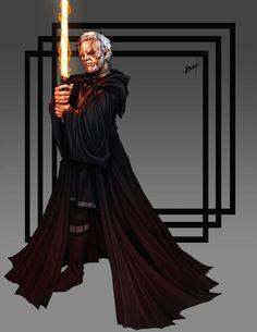 Overseer, clone of Obi-Wan Kenobi by Shoguneagle on DeviantArt Star Wars Characters Pictures, Star Wars Images, Star Wars Sith, Star Wars Rpg, Jedi Sith, Star Wars Poster, Star Wars Collection, Obi Wan, Star Battle