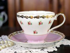 Adderley Chintz Tea Cup and Saucer, English Bone China Teacups