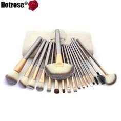 Makeup Brush Set 12/18 pcs Soft Synthetic Professional Cosmetic Makeup Foundation Powder Blush Eyeliner Brushes